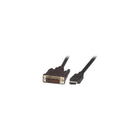 MCL Cable HDMI male (19 pts)/ DVI-D male - 2m (P)