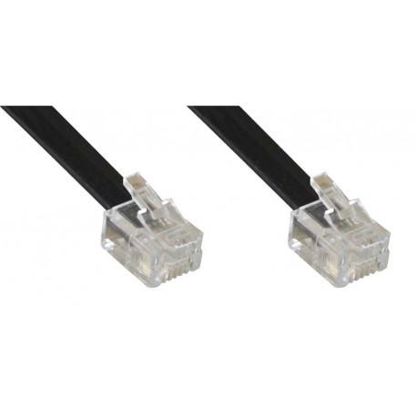 InLine RJ12 5m câble de téléphone Noir
