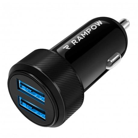 Chargeur Allume Cigare USB pour Voiture USB Ultra Compact Double Port 4.8A/24W