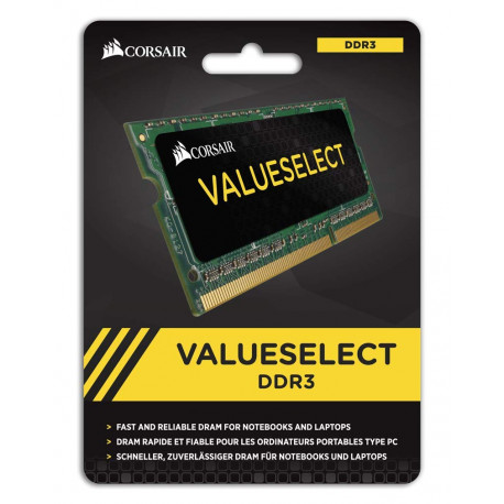 Mémoire 4Go DDR3 1600MHz Corsair Value Select