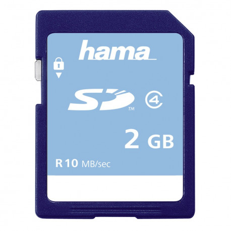Carte mémoire SD, classe 4, 2GB HAMA