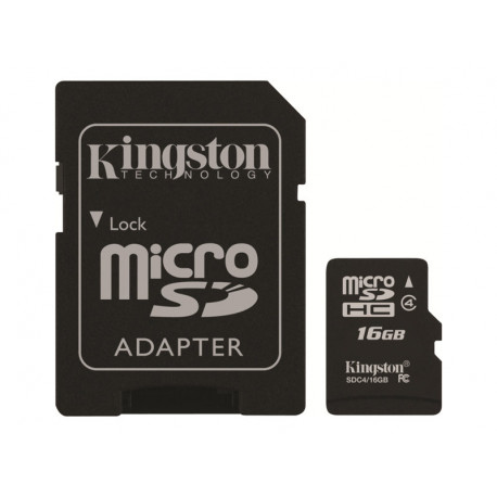 Kingston 16 Go Micro SD + Adaptateur