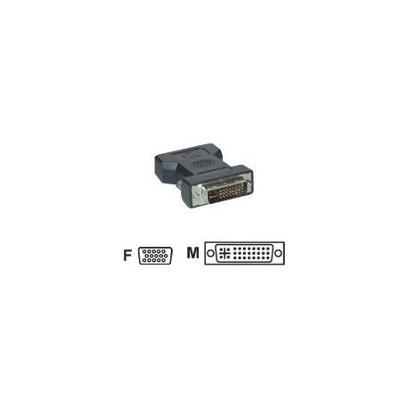 Adaptateur Vidéo V7 - 1 x DVI-I Mâle Vidéo - 1 x HD-15 Femelle VGA - Noir
