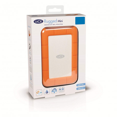 "LaCie Rugged Mini Disque dur externe portable 2,5"" USB 3.0 / USB 2.0 1 To"
