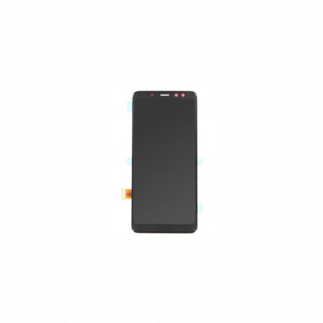 Ecran NOIR (Officiel) - Galaxy A8 (2018) avec stickers écran