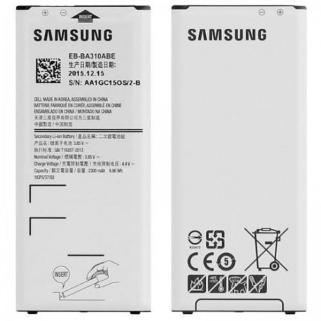 Batterie Samsung Galaxy A3 2016 + Vitre arriere (Or)