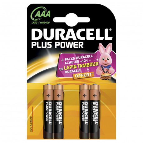 Pile Duracell Plus Power AAA x4
