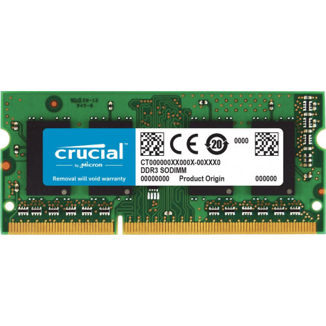 Crucial 8Go (DDR3L, 1600 MT/s, PC3L-12800, SODIMM, 204-Pin)