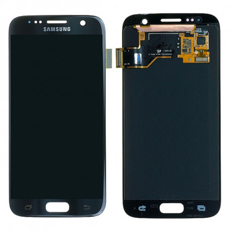 LCD Samsung Galaxy S7 - Noir avec stickers - officiel