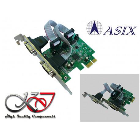 Carte Controleur PCI Express (PCIe) Série RS232 2 Ports - Chipset ASIX