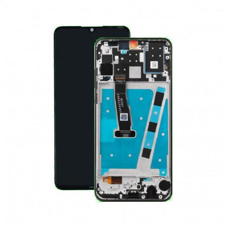 LCD + Ecran tactile Huawei P30 Lite Noir Châssis Frame Cadre MAR-LX1A, MAR-L21