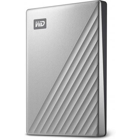 WD My Passport Ultra Disque Dur Externe Portable USB-C 1 To Argenté