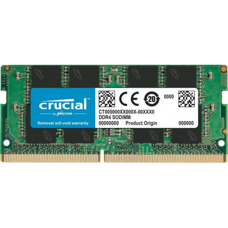 Crucial 8Go (DDR4, 2666 MT/s, PC4-21300, Single Rank x8, SODIMM, 260-Pin)