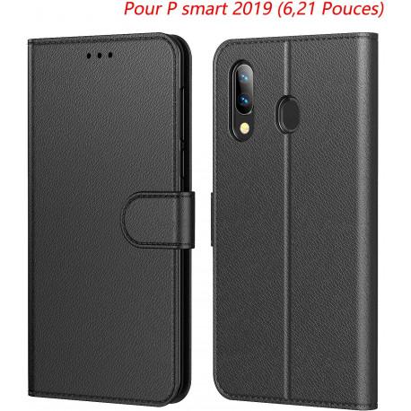 Etui pour Huawei Psmart 2019 cuir noir
