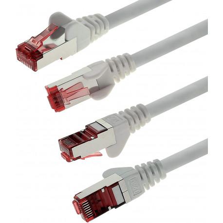 0,5m - Blanc - 5 pièces - CAT6 Câble Ethernet Set - Câble Réseau RJ45 10/100 / 1000