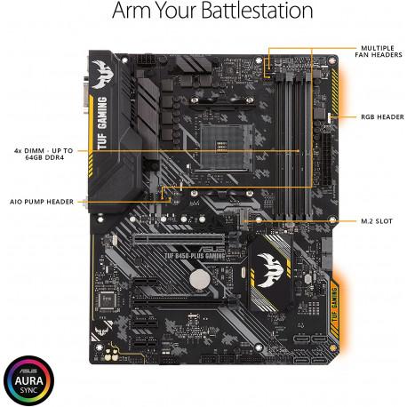 Carte mère gaming AMD B450 au format ATX avec DDR4 4400MHz