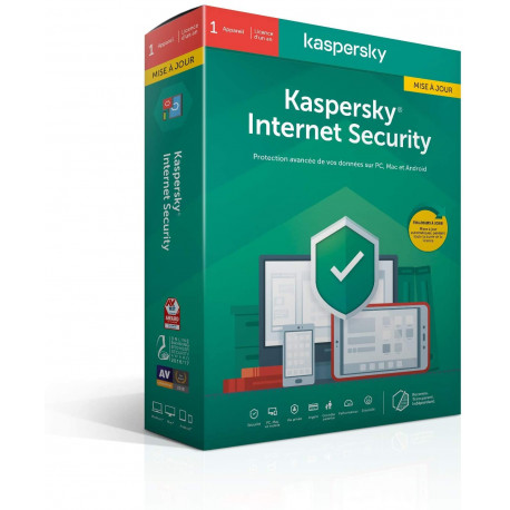 Kaspersky Internet Security 2020 Mise à jour 1 an