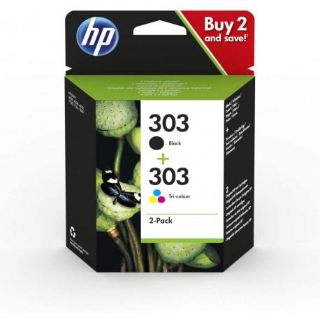 Pack de 2 cartouches authentiques d'encre noire/trois couleurs HP 303