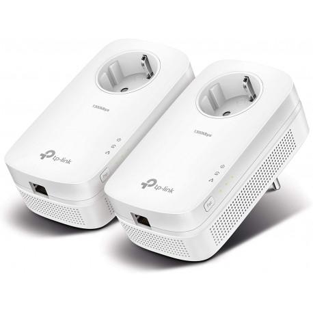 TP-Link - CPL - AV1300 (Débit 1300 Mbps), Port Ethernet Gigabit,  Pack de 2 CPL