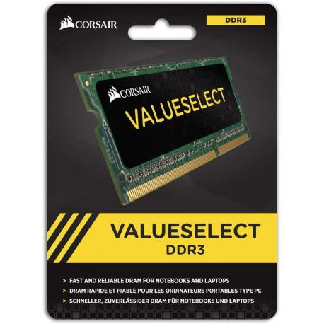 Corsair CMSO4GX3M1A1600C11 Value Select Mémoire pour Ordinateur Portable 4Go (1x4Go) DDR3 1600 Mhz CL11