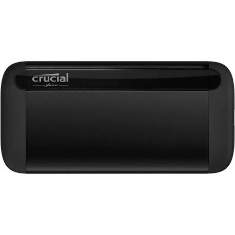 Crucial X8 1To Portable SSD – Vitesses atteignant 1050Mo/s – USB 3.2 – Lecteur d'état solide externe, USB-C, USB-A