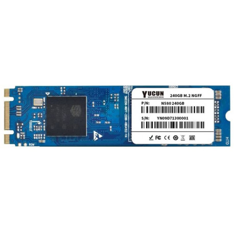 YUCUN Disque Flash M.2 NGFF SSD 240 Go 2280 Interne Solid State Drive 240GB
