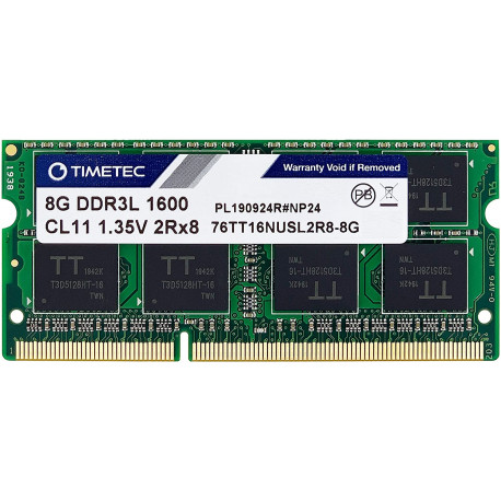 Timetec Hynix IC 8GB DDR3L 1600MHz PC3-12800 Unbuffered Non-ECC 1.35V CL11