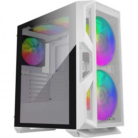 Boîtier pour ordinateur de jeux Antec NX800 - Tour Moyenne - Blanc - SPCC, Plastique, En verre trempé