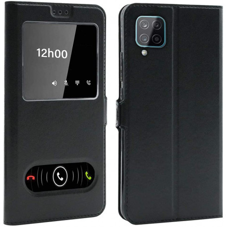 Etui Coque Housse avec FENETRES pour Samsung Galaxy A12 (6,5 Pouces)