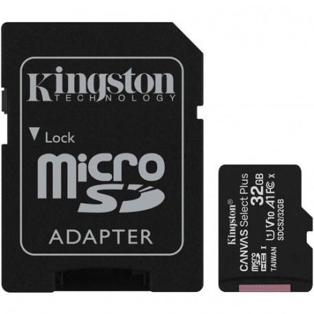 Kingston Carte Micro SDHC Kingston Canvas Select Plus - 32 Go - Classe 10/UHS-I (U1)