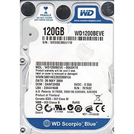 """Disque dur 120 Go IDE 2.5"""" WD Blue"""