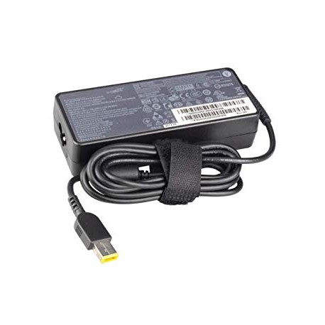 Chargeur Lenovo 65W (embout rectangle jaune)