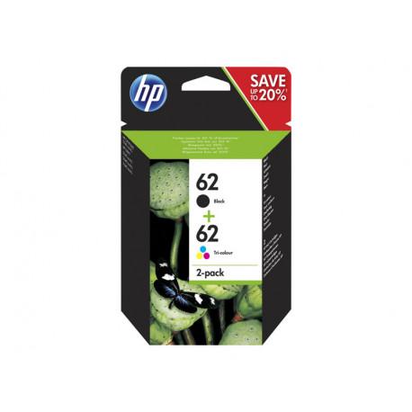 Pack de cartouche HP 62 (Noir+couleur)