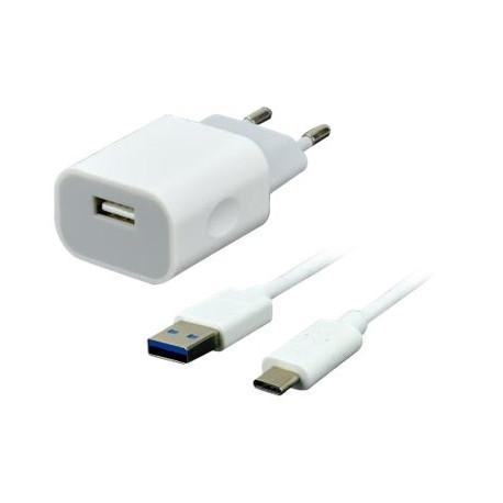 Kit chargeur secteur + câble USB Type C -