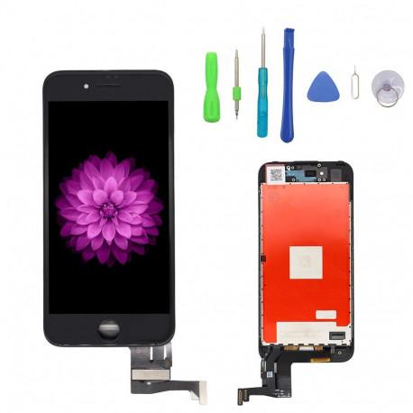 LCD+Vitre Iphone 7 A1778 - Noir + Joint d'étanchéité (Sticker)